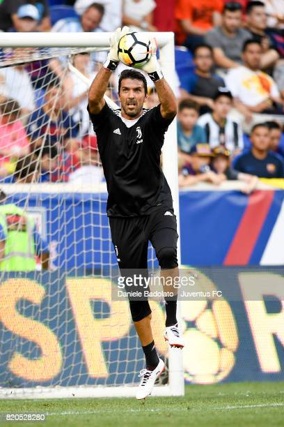 Gianluigi Buffon at a training session during the Juventus Summer Tour on July 21 2017 in New York City