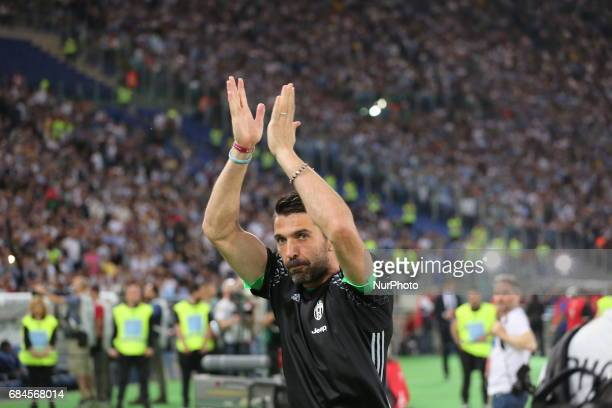 Gianluigi Buffon before the Italian Cup final between Juventus FC and SS Lazio at Olympic Stadium on may 17 2017 in Rome Italy Juventus won 20 over...