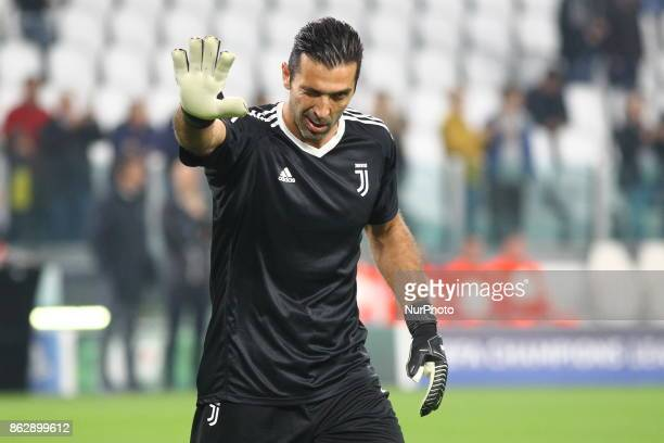 Gianluigi Buffon before the UEFA Champions League football match between Juventus FC and Sporting CP at Allianz Stadium on 18 October 2017 in Turin...
