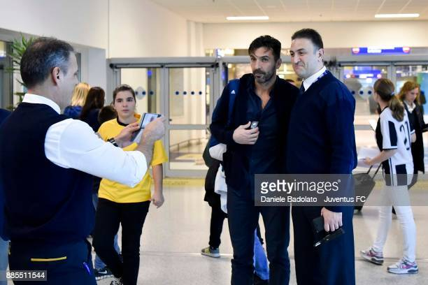 Gianluigi Buffon during a Juventus Travel to Athens ahead of the UEFA chanpions League match versus Olimpiacos at on December 4 2017 in Athens Greece