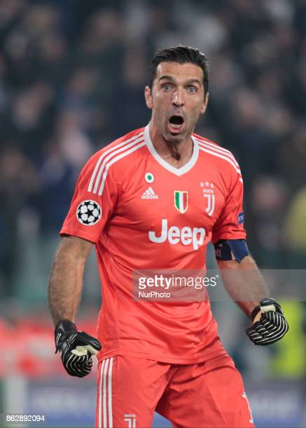 Gianluigi Buffon during Champions League match between Juventus and Sporting Clube de Portugal in Turin on October 17 2017