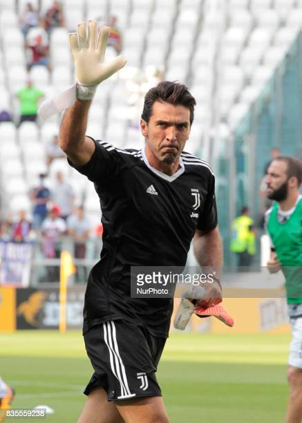 Gianluigi Buffon during Serie A match between Juventus v Cagliari in Turin on August 19 2017