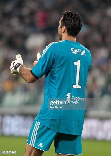 Gianluigi Buffon during Serie A match between Juventus v Torino in Turin on September 23 2017