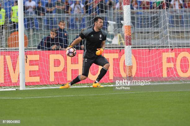 Gianluigi Buffon during the Italian Serie A football match between AS Roma and FC Juventus at the Olympic Stadium in Rome on may 14 2017
