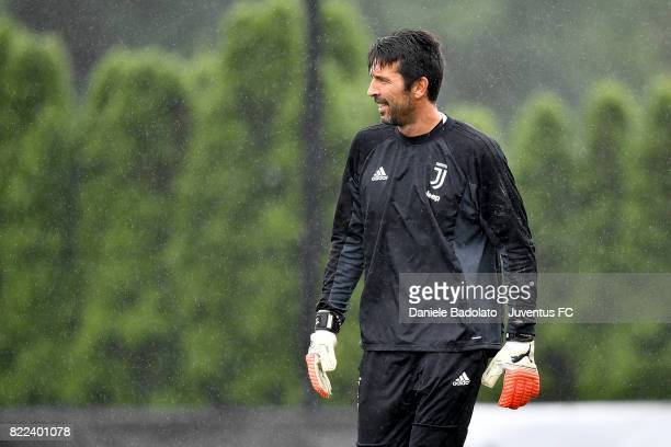 Gianluigi Buffon during the morning training session on July 25 2017 in Boston City