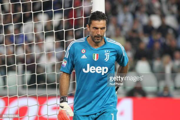Gianluigi Buffon during the Serie A football match between Juventus FC and Torino FC at Allianz Stadium on 23 September 2017 in Turin Italy
