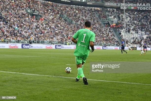 Gianluigi Buffon during the Serie A football match between Juventus FC and SS Lazio at Olympic Allianz Stadium on 14 October 2017 in Turin Italy