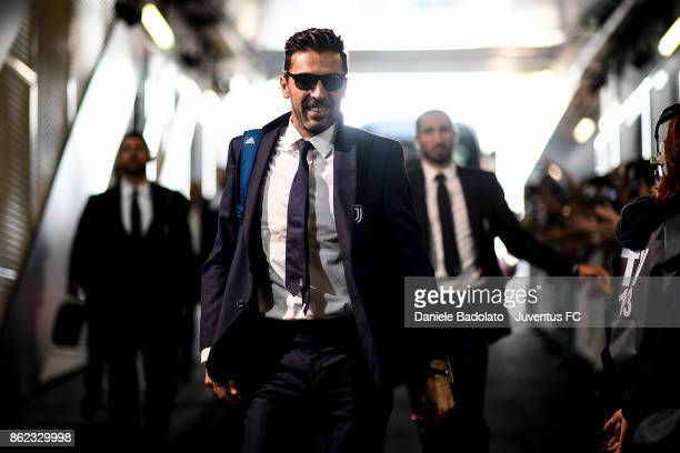 Gianluigi Buffon during the Serie A match between Juventus and SS Lazio on October 14 2017 in Turin Italy