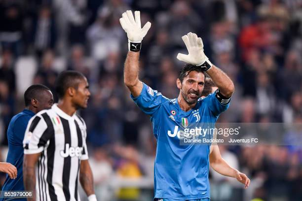 Gianluigi Buffon during the Serie A match between Juventus and Torino FC on September 23 2017 in Turin Italy