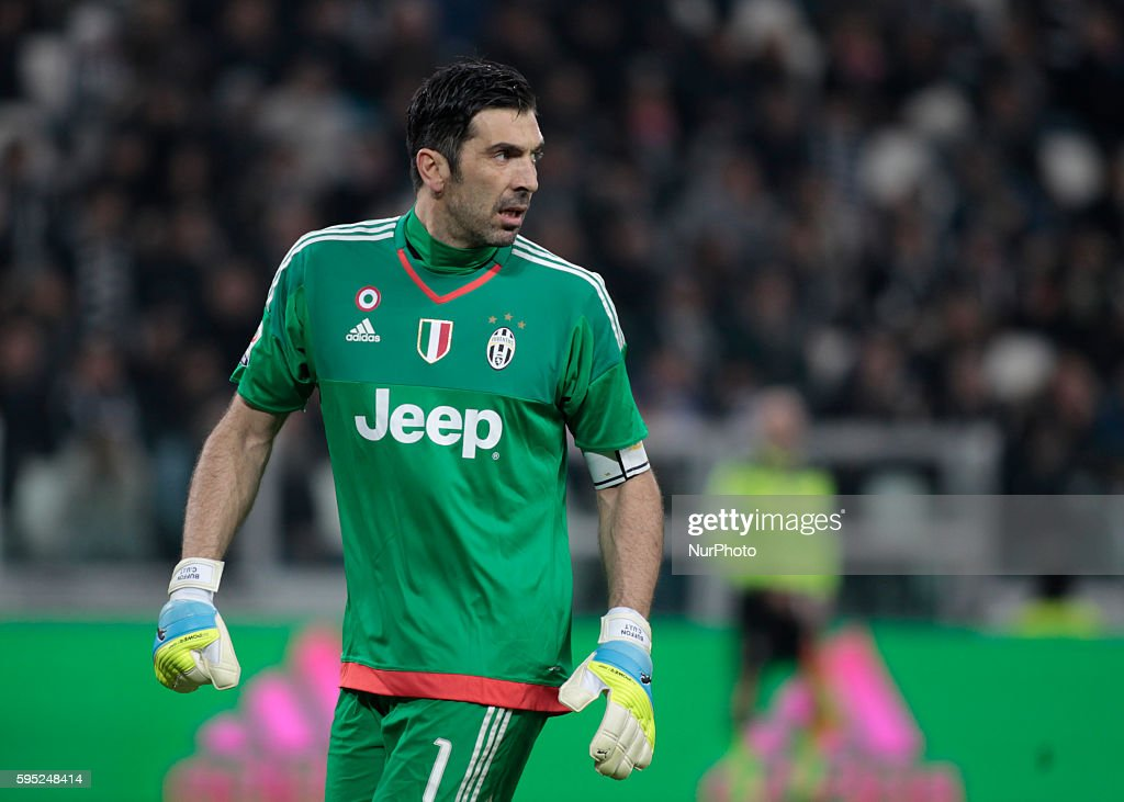 Gianluigi Buffon during the serie A match between Juventus FC and US Sassuolo Calcio at the Juventus Stadium of Turin on march 11 2016 in Torino italy
