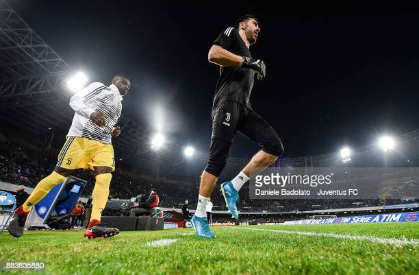 Gianluigi Buffon during the Serie A match between SSC Napoli and Juventus at Stadio San Paolo on December 1 2017 in Naples Italy