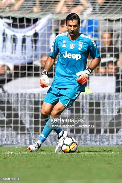 Gianluigi Buffon during the Serie A match between US Sassuolo and Juventus at Mapei Stadium Citta' del Tricolore on September 17 2017 in Reggio...