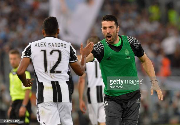 Gianluigi Buffon during the Tim Cup football match FC Juventus vs SS Lazio at the Olympic Stadium in Rome on may 17 2017 Cup football match FC...