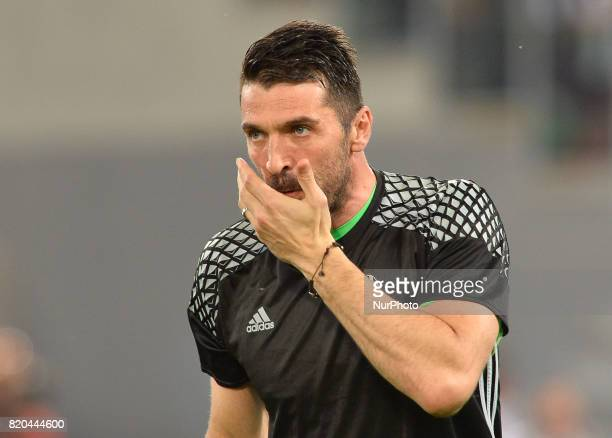 Gianluigi Buffon during the Tim Cup football match FC Juventus vs SS Lazio at the Olympic Stadium in Rome on may 17 2017