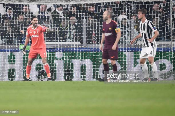 Gianluigi Buffon during the UEFA Champions League group D match between Juventus and FC Barcelona at Allianz Stadium on November 22 2017 in Turin...