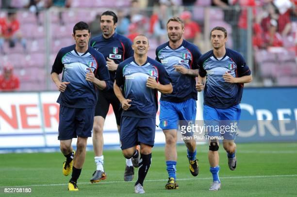 Gianluigi BUFFON Fabio CANNAVARO Suisse / Italie Match de preparation Coupe du Monde 2010 Stade de Geneve