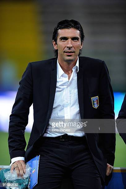 Gianluigi Buffon goal kepeer of Italy looks on before the FIFA2010 World Cup Group 8 Qualifier match between Italy and Cyprus at the Tardini Stadium...
