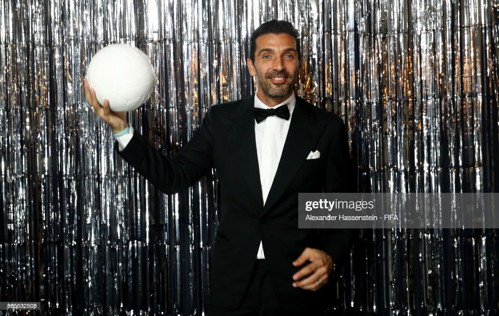 Gianluigi Buffon is pictured inside the photo booth prior to The Best FIFA Football Awards at The London Palladium on October 23, 2017 in London, England.