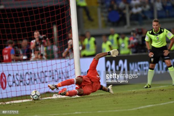 Gianluigi Buffon of FC Juventus in action during the Italian Super Cup soccer match between FC Juventus and SS Lazio at Stadio Olimpico in Rome Italy...