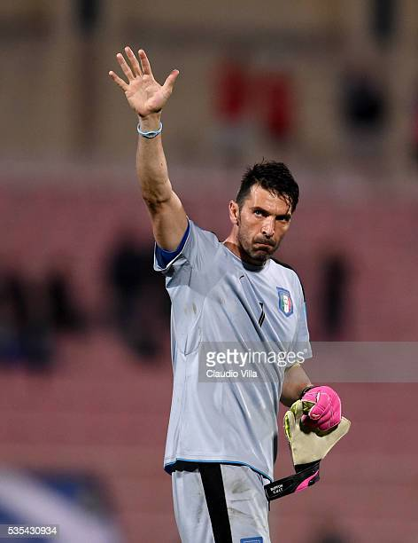 Gianluigi Buffon of Italy at the end of the international friendly between Italy and Scotland on May 29 2016 in Malta Malta
