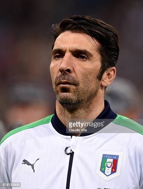 Gianluigi Buffon of Italy poses prior to the international friendly match between Germany and Italy at Allianz Arena on March 29 2016 in Munich...
