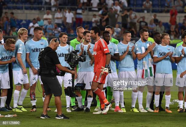 Gianluigi Buffon of Juventus after the Italian Supercup match between Juventus and SS Lazio at Stadio Olimpico on August 13 2017 in Rome Italy