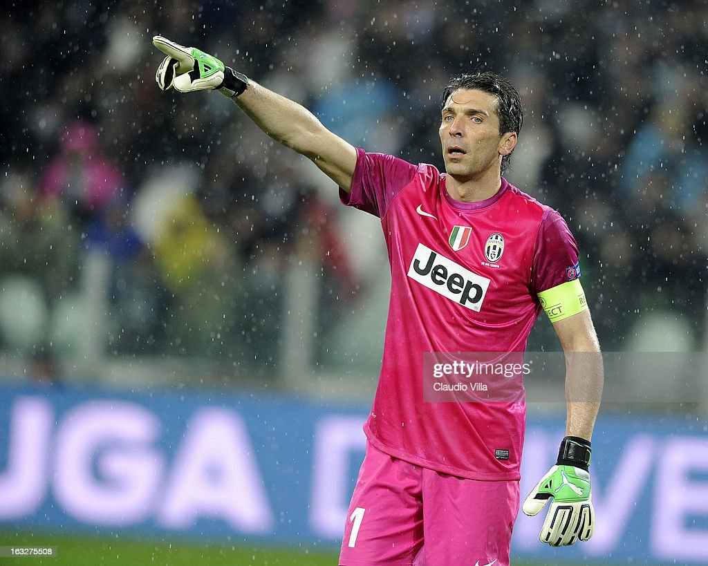 Gianluigi Buffon of Juventus during the Champions League round of 16 second leg match between Juventus and Celtic at Juventus Arena on March 6, 2013 in Turin, Italy.