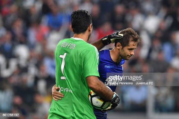 Gianluigi Buffon of Juventus during the Serie A match between Juventus and SS Lazio on October 14 2017 in Turin Italy
