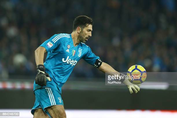 Gianluigi Buffon of Juventus during the Serie A match between SSC Napoli and Juventus at Stadio San Paolo on December 1 2017 in Naples Italy