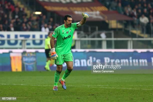Gianluigi Buffon of Juventus Fc during the Serie A football match between Torino FC and Juventus FC Juventus FC won 31 over Torino FC