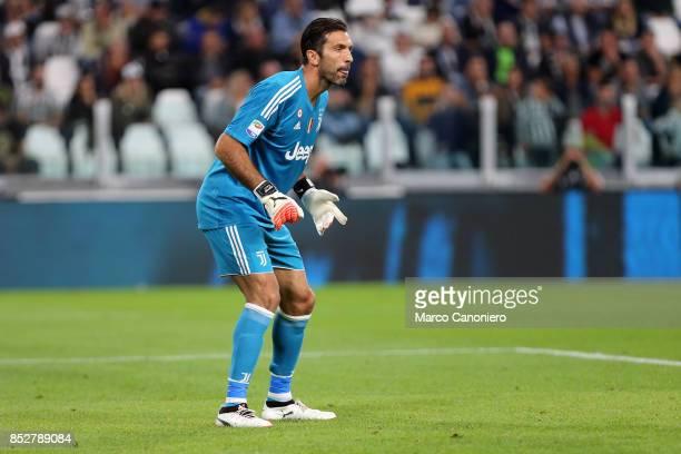 Gianluigi Buffon of Juventus FC during the Serie A football match between Juventus FC and Torino FC Juventus won the game 4 goals to nil