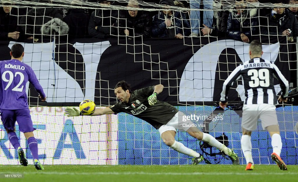 Gianluigi Buffon of Juventus FC during the Serie A match between Juventus FC and ACF Fiorentina at Juventus Arena on February 9, 2013 in Turin, Italy.