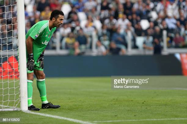 Gianluigi Buffon of Juventus FC in action during the Serie A football match between Juventus FC and SS Lazio SS Lazio wins 21 over Juventus Fc