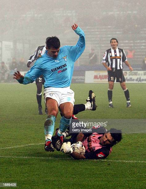Gianluigi Buffon of Juventus in action during the Serie A match between Lazio and Juventus played at the Olympic Stadium Rome Italy on December 15...