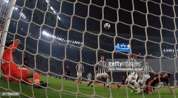 Gianluigi Buffon of Juventus in action during the UEFA Champions League group D match between Juventus and FC Barcelona at Allianz Stadium on...