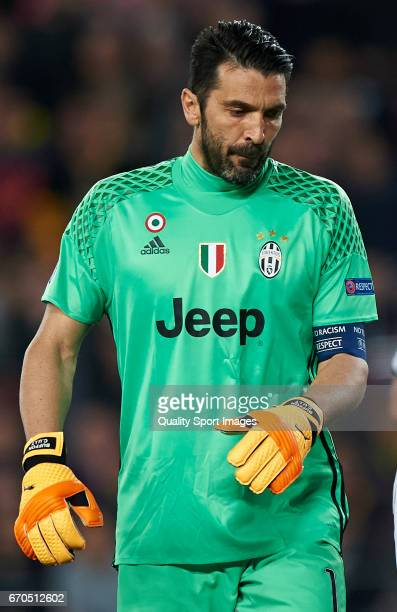 Gianluigi Buffon of Juventus looks on during the UEFA Champions League Quarter Final second leg match between FC Barcelona and Juventus at Camp Nou...