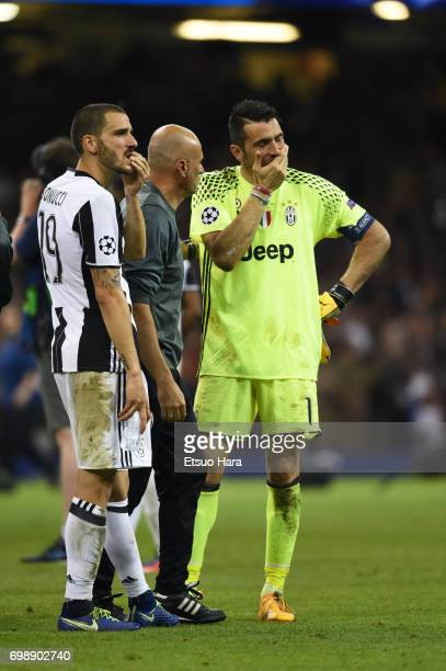 Gianluigi Buffon of Juventus reacts after his side's 14 defeat in the UEFA Champions League final match between Juventus and Real Madrid at National...
