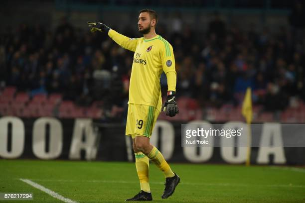 Gianluigi Donnarumma AC Milan during the Serie A TIM match between SSC Napoli and AC Milan at Stadio San Paolo Naples Italy on 18 November 2017