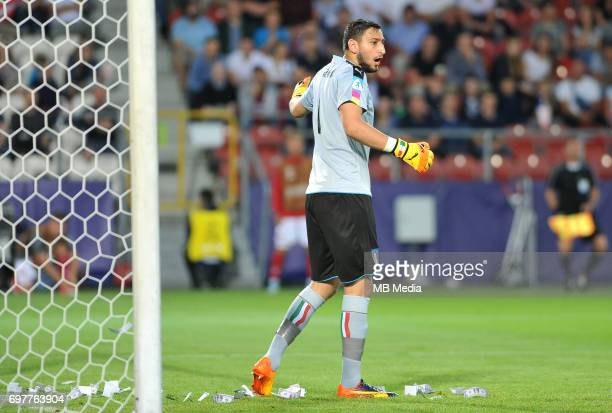 Gianluigi Donnarumma dolars money during the UEFA European Under21 match between Denmark and Italy at Cracovia stadium on June 18 2017 in Krakow...