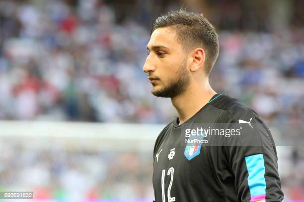 Gianluigi Donnarumma during the international friendly between Italy and Uruguay at Allianz Riviera stadium on June 7 2017 in Nice France Italy won...