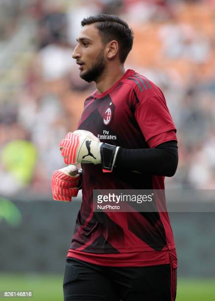 Gianluigi Donnarumma during the preliminaries of Europa League 2017/2018 match between Milan v Craiova in Milan on august 3 2017
