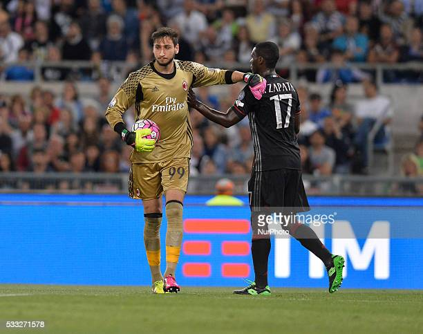 Gianluigi Donnarumma during the Tim Cup Final football match FC Juventus vs AC Milan at the Olympic Stadium in Rome on May 21 2016
