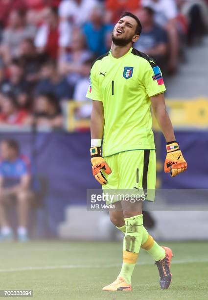 Gianluigi Donnarumma during the UEFA European Under21 match between Czech Republic and Italy on June 21 2017 in Tychy Poland