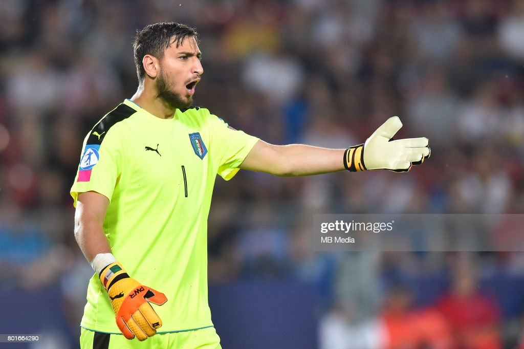 Gianluigi Donnarumma during the UEFA European Under-21 match between Italy and Germany on June 24, 2017 in Krakow, Poland.
