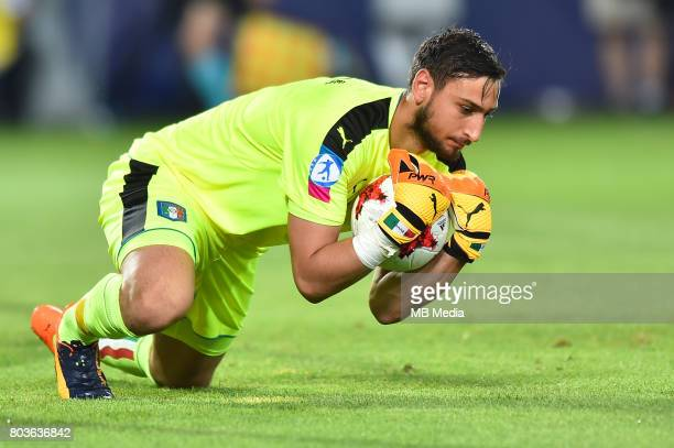 Gianluigi Donnarumma during the UEFA European Under21 match between Spain and Italy on June 27 2017 in Krakow Poland