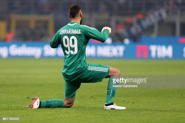 Gianluigi Donnarumma of Ac Milan during the Serie A football match between FC Internazionale and AC Milan Fc Internazionale wins 32 over Ac Milan