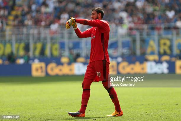 Gianluigi Donnarumma of Ac Milan during the Serie A match between Fc Internazionale and Ac Milan