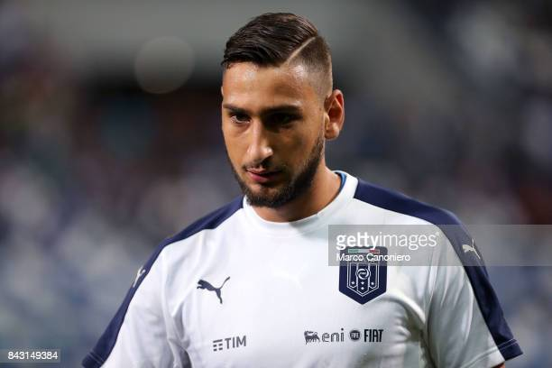 Gianluigi Donnarumma of Italy during the FIFA 2018 World Cup Qualifier match between Italy and Israel Italy wins 10 over Israel
