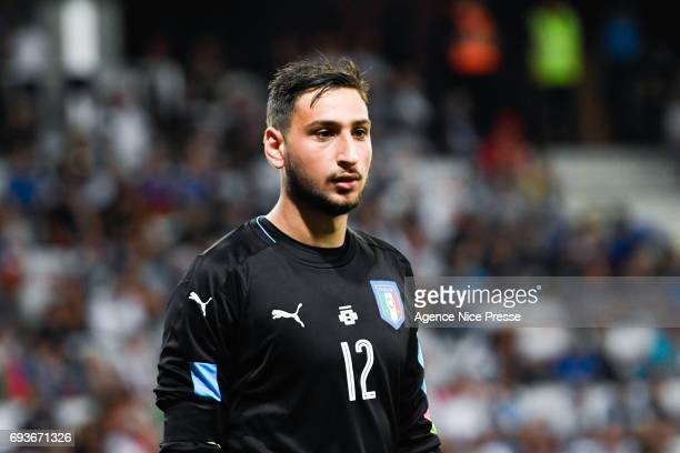 Gianluigi Donnarumma of Italy during the International Friendly match between Italy and Uruguay on June 7 2017 in Nice France
