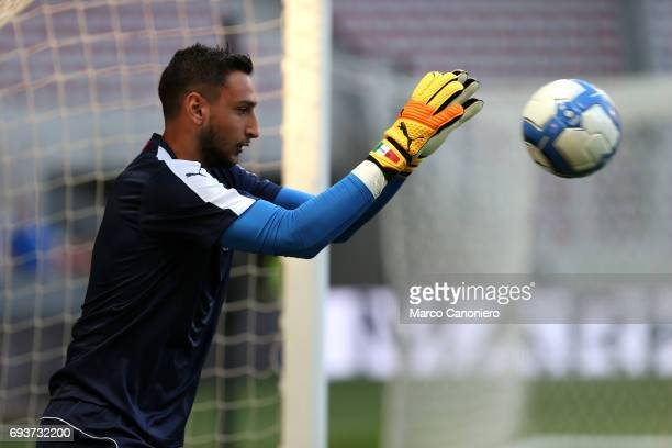 Gianluigi Donnarumma of Italy during the international friendly match between Italy and Uruguay Italy wins 30 over Uruguay